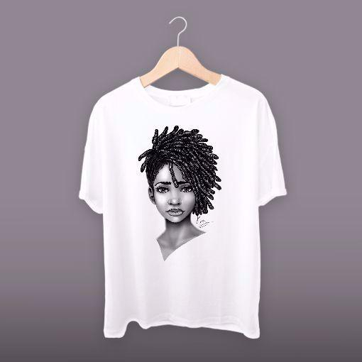 Graphic Beautiful black women face